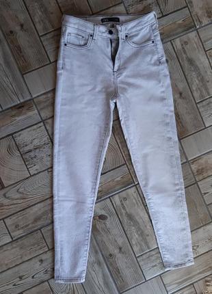 Супер джинсы zara с высокой талией