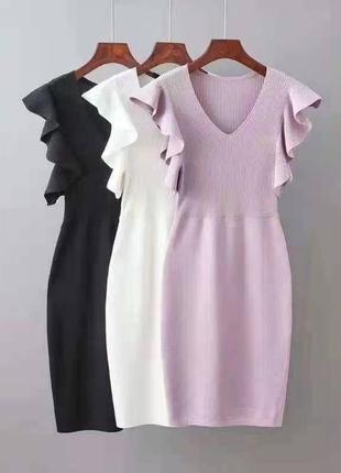 Женское нарядное платье вязка