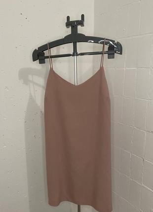 Нюдовое платье1 фото