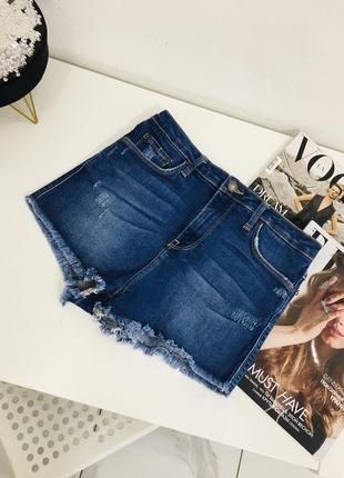 Высокие джинсовые шорты с бахромой по краям от zara