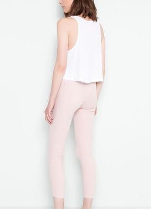 Пудровые джинсы скинни  на высокой талии zara pull&bear s m 38 40 eur