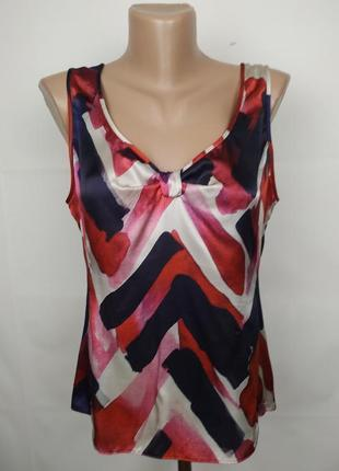 Блуза шелковая стильная оригинальная оригинал! armani uk 14-16