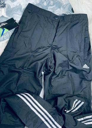 Спортивные штанишки плащовка чёрные