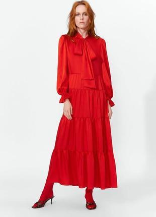 Шикарное платье макси в винтажном стиле zara ❤️