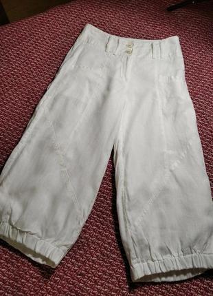 Белые льняные стильные женские брюки от 2 biz.