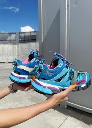 Модные женские кроссовки демисезонные голубые