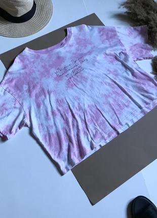 Стильная футболка топ в стиле тай дай р.м