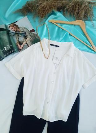 Стильная блуза от zara. натуральная ткань 🌼🌼🌼
