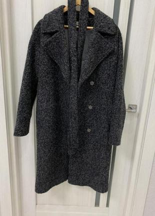 Тепле зимове пальто букле реглан укр бренд ff