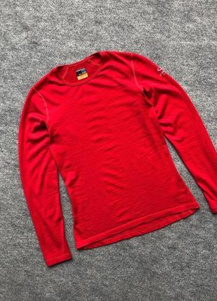 Шерстяна термобілизна від icebreaker merino 200 bodyfit long sleeve red