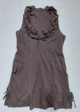 Натуральное легкое платье/сарафан miss etam р. 46-48-50
