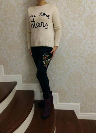 Стильны и теплы свитер zara, размер s-m.