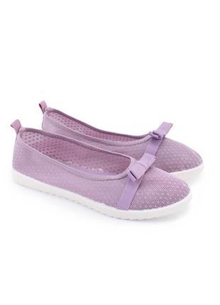 🌿 женские фиолетовые текстильные балетки3 фото