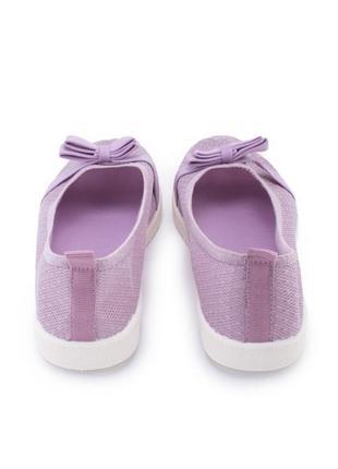 🌿 женские фиолетовые текстильные балетки5 фото