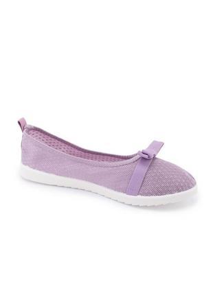 🌿 женские фиолетовые текстильные балетки4 фото