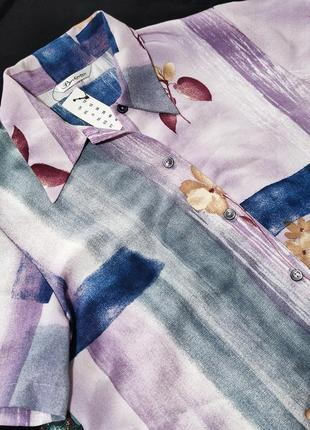 Шикарная брендовая блуза berkertex этикетка цветы