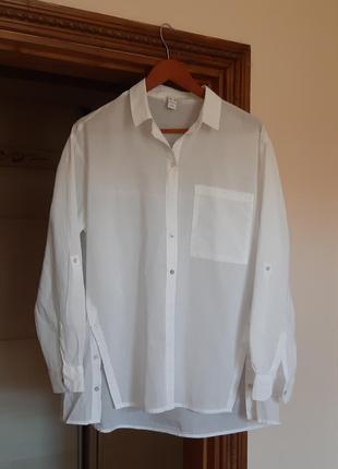 Летняя белая сорочка рубашка блуза свободного кроя