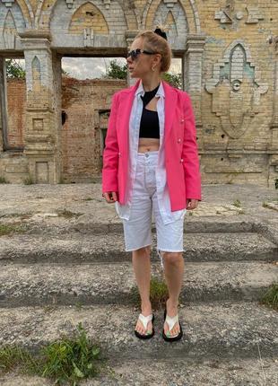 Пиджак женский малиновый/ ярко-розовый. офигенный цвет