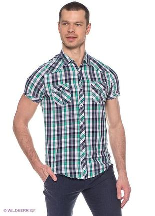Oodji мужская рубашка в клетку