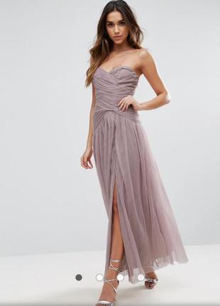 Кружевное платье-бандо со сборками и сборками little mistress