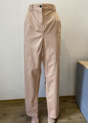 Коттоновые брюки штаны с защипами батал большой размер