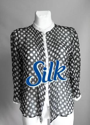 Невесомая шелковая блуза