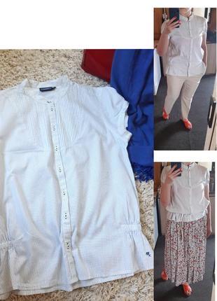 Актуальная хлопковая блуза/рубашка короткий рукав,mexx, p. 44-46