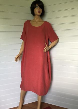 Льняное платье болон