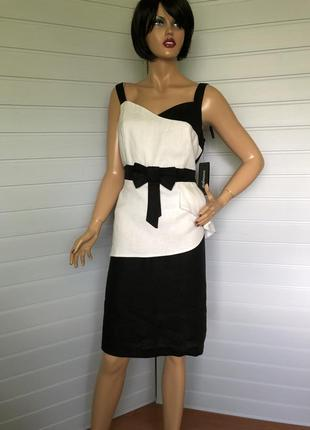 Льняное нарядное платье