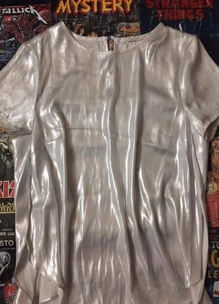 Прозрачный переливающийся топ сеточка сетка кофта рейв футболка голографическая