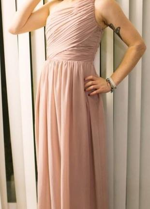 Вечернее платье пудрового цвета h&m
