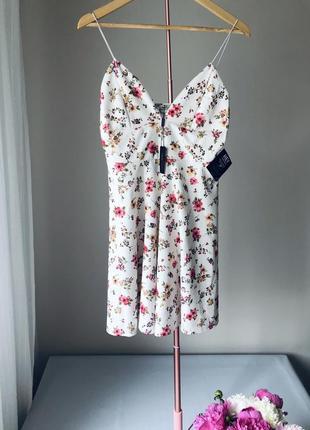 Платье, летний сарафан, цветочный принт.