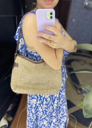 Невероятно стильная летняя сумка с кожи и соломы tula