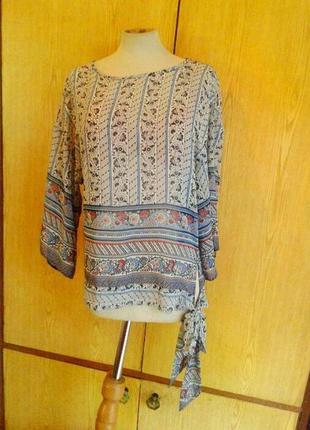 Шелковистая блузка рубашечного кроя, s/8, m/10.