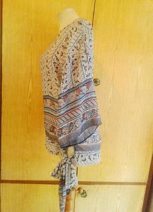 Шелковистая блузка рубашечного кроя, s/8, m/10.3 фото