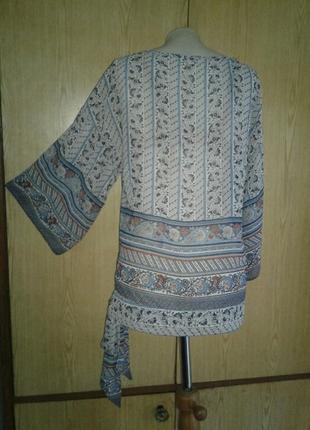 Шелковистая блузка рубашечного кроя, s/8, m/10.2 фото