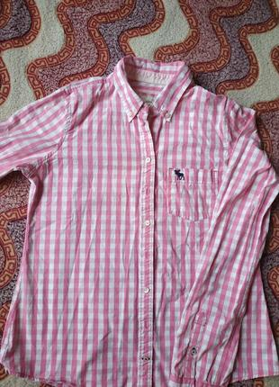 Супер рубашка в клетку от abercrommbie&fitch