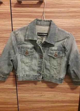 🌞джинсовка кроп джинсовая куртка пиджак