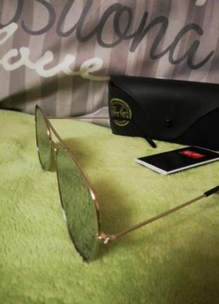 Солнцезащитные зеркальные очки ray ban