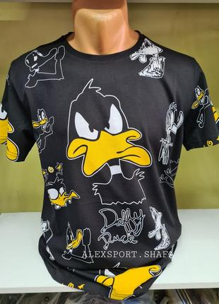Футболка, футболка duffy duck унисекс, футболка с приколами, футболка с мультяшками
