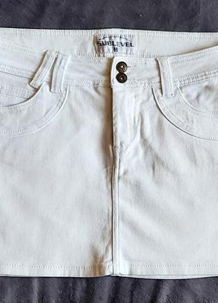 Белая юбка sublevel