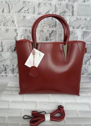 Женская кожаная сумка деловая жіноча шкіряна сумочка