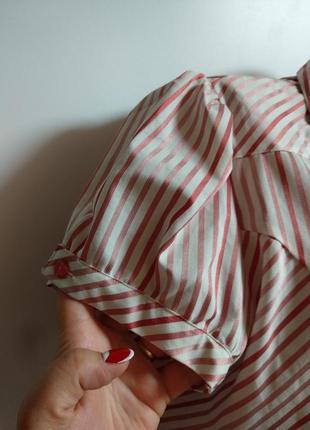Красивая рубашка в полоску с люрексом 20/54-56 размера3 фото