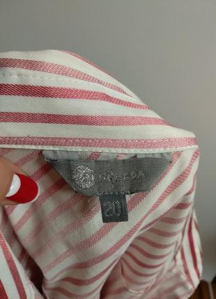 Красивая рубашка в полоску с люрексом 20/54-56 размера8 фото