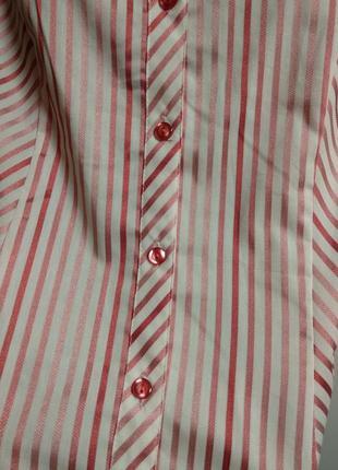 Красивая рубашка в полоску с люрексом 20/54-56 размера4 фото