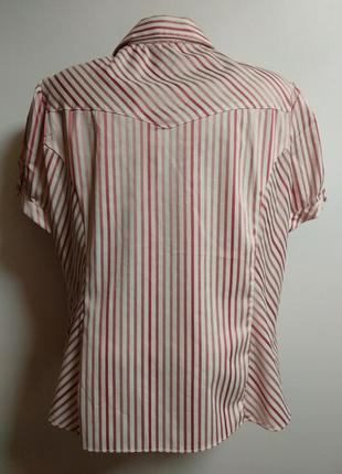 Красивая рубашка в полоску с люрексом 20/54-56 размера6 фото