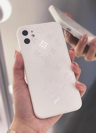 Скляний матовий чохол для iphone
