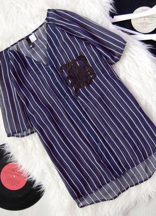 Блуза в полоску  с нашивкой lb | divided by h&m |