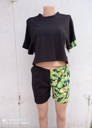 Пижама женская авокадо