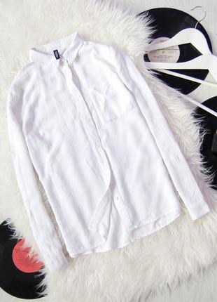 Базовая рубашка белая от divided by h&m